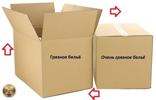 коробки с бельём