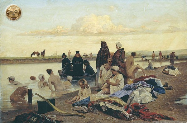 картина Репина «Приплыли»