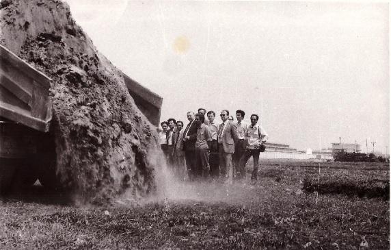 Первая машина грунта на Техцентре