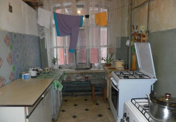 Общий вид кухни в общежитии