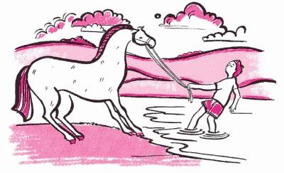 Конь не хочет пить