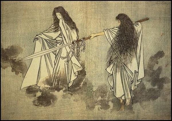 Боги Идзанаги и Идзанами