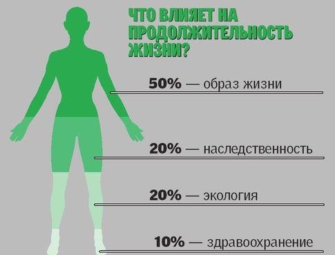 Факторы влияющие на долголетие