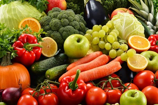 Овещи и фрукты с витамином C