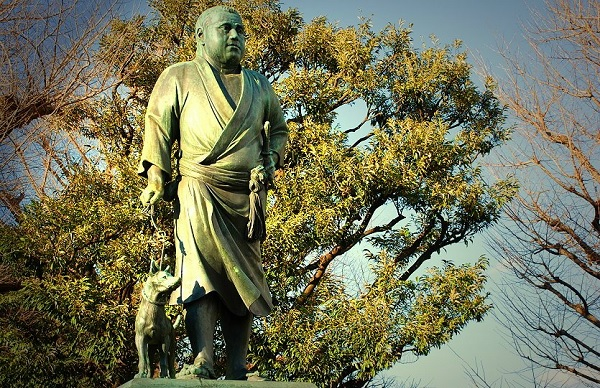 Памятник последнему сёгуну Сайго Такомори