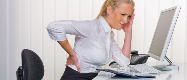 Девушка с болью в спине