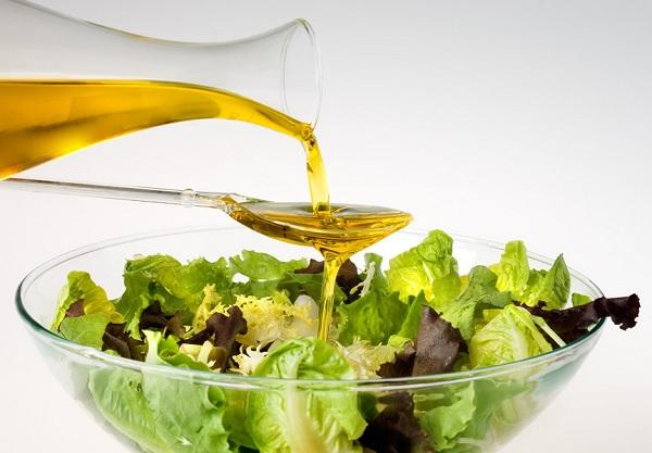 Овощной салат на растительном масле