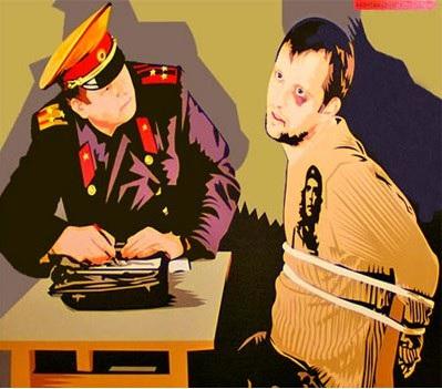 Допрос в милиции
