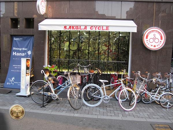 Велосипедная лавочка