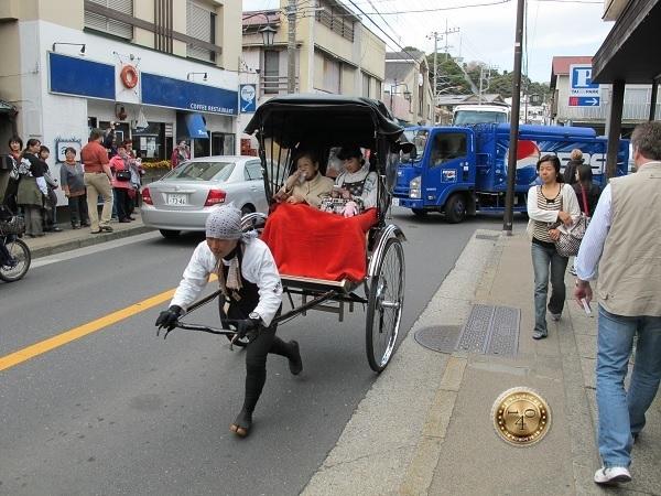 Женская рикша в Камакура