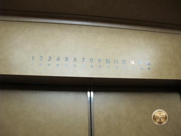 Лифтовая дверь с панелью