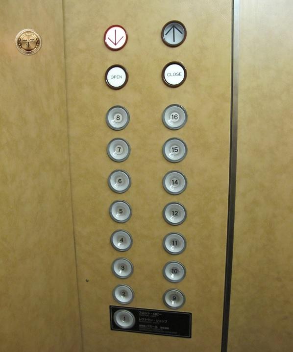 лифтовая панель без 13-го этажа