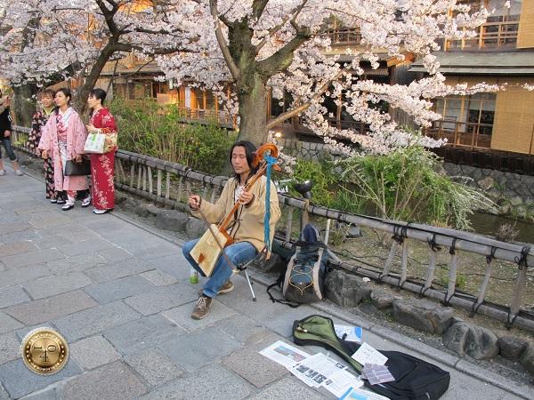 Уличный музыкант в Киото