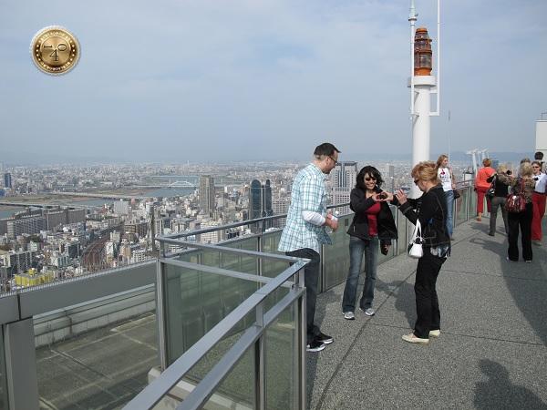 Фотосессия на крыше небоскреба