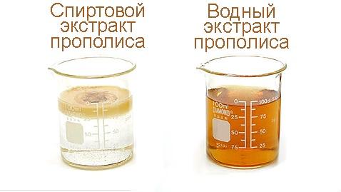 спиртовой и водный экстракты прополиса