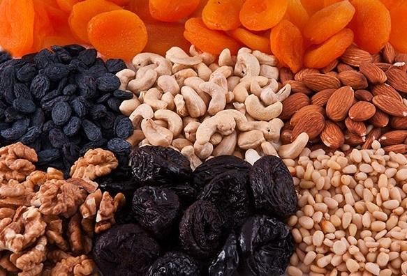 Орехи, изюм, курага для иммунитета