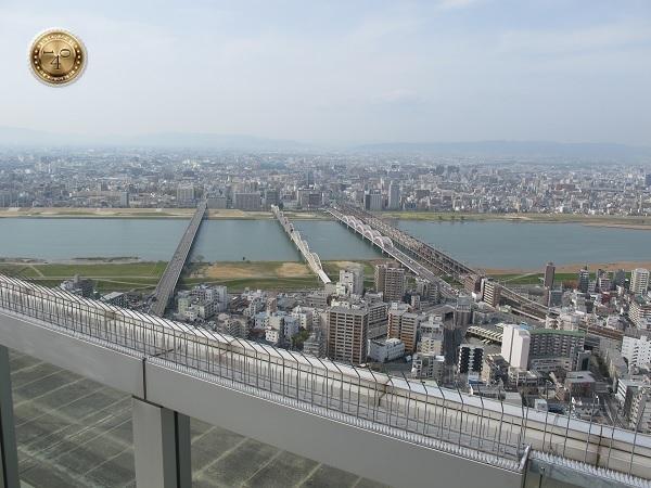 Город Осака с высоты птичьего полета
