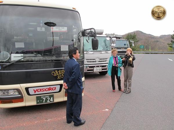 На остановке туристических автобусов