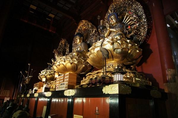 Три божества из храма Риннодзи