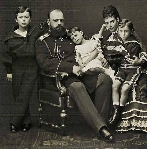 Александр III, Мария Федоровна и дети