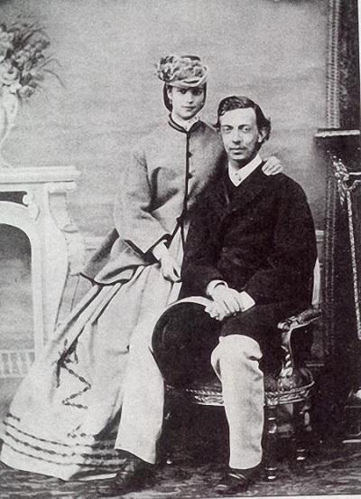 Цесаревич Николай Александрович и принцесса Дагмара 1865