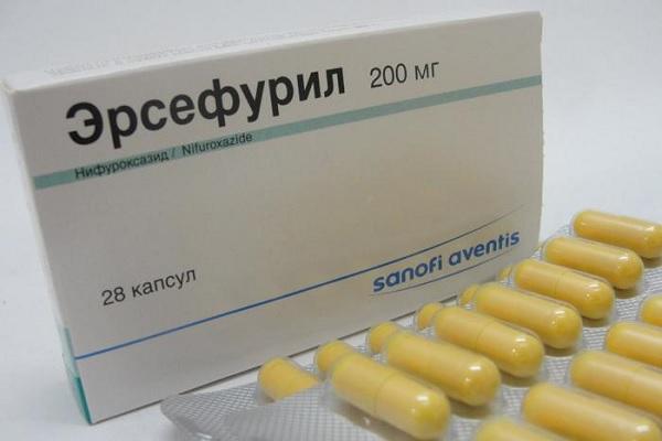 Капсулы эрсефурил от диареи