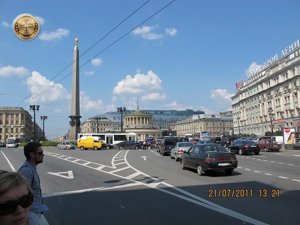 Площадь перед Московским вокзалом в Санкт-Петербурге