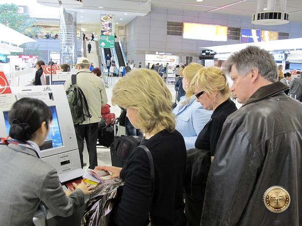 Регистрация на рейс в аэропорту Нарита