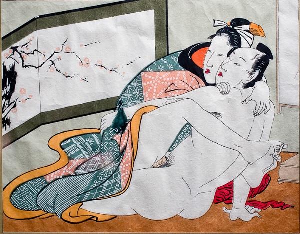 Японская гравюра сюнга