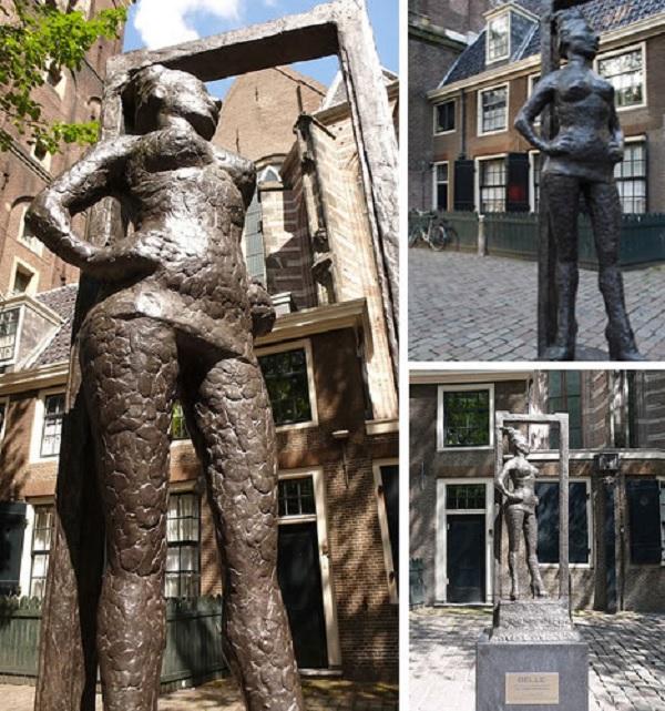 Памятник проститутке Бэле в Амстердаме