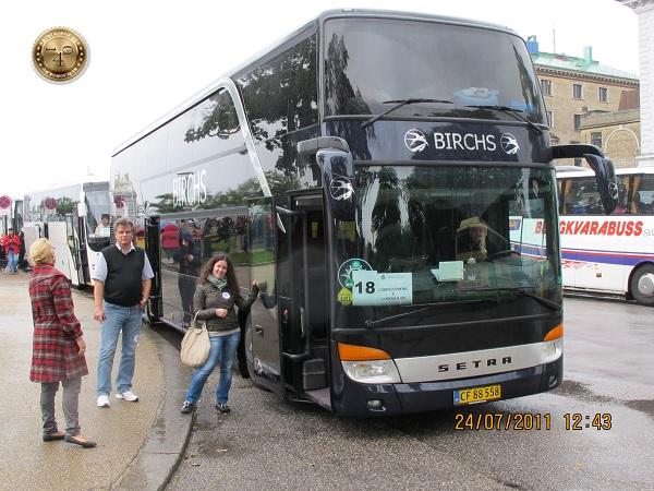 Туристический автобус в Копенгагене
