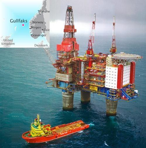 Нефтяная вышка в Норвегии