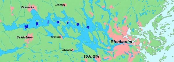 Озеро Мэларен под Стокгольмом