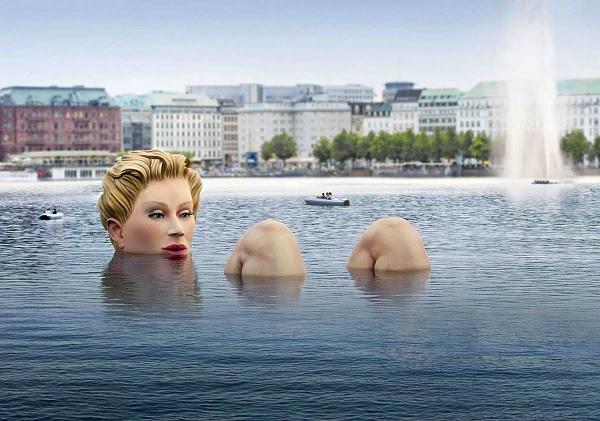 Искусственное озеро в Гамбурге