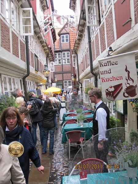 Средневековый переулок в Гамбурге