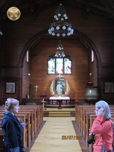 Витраж в церкви Олдена