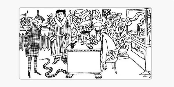 Картинка к рассказу Змея в доме