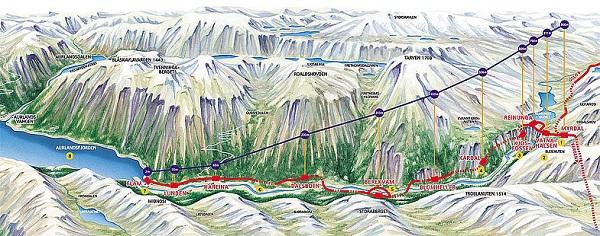 Карта Фломской дороги