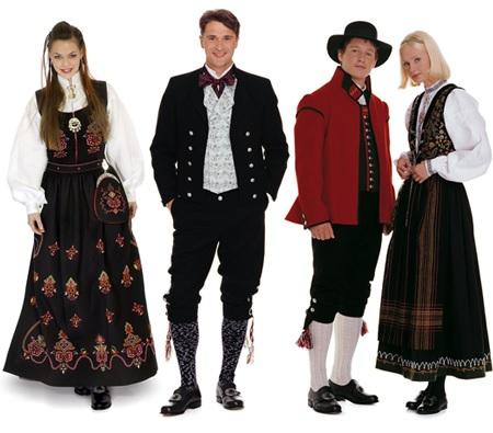 Народные норвежские костюмы