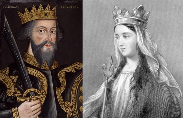 Вильгельм Завоеватель и его жена Матильда Фландрская