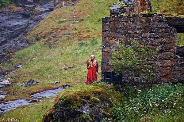 Легендарная Хюльдра у водопада