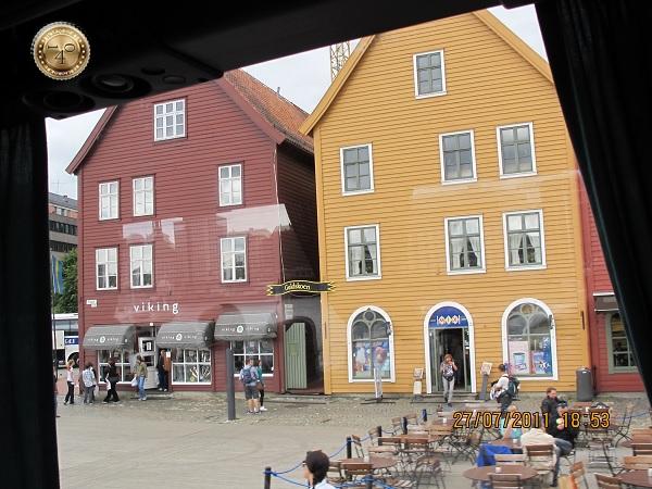 Уличное кафе в Бергене