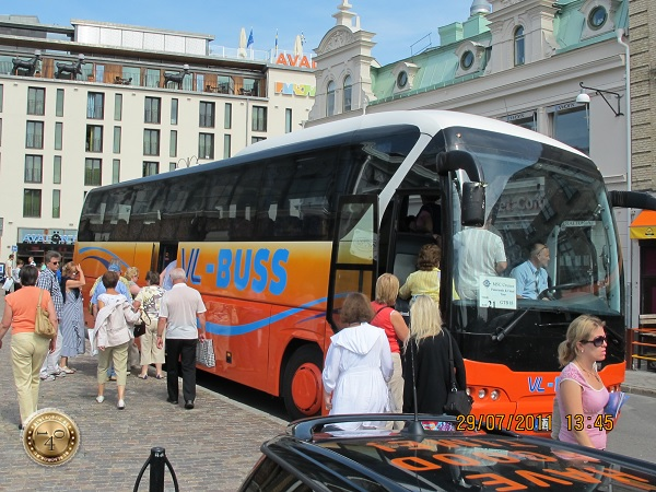 Посадка в экскурсионный автобус
