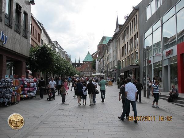 Пешеходная улица в Любеке