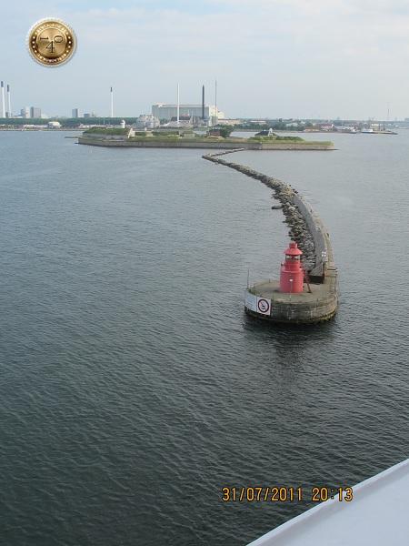 Пследний буй на выходе из порта Копенгаген