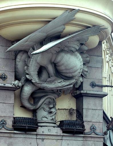 Дракон на здании Фондовой биржи в Копенгагене