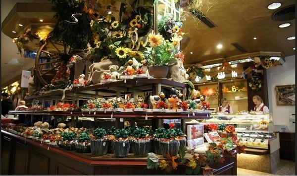 Марцепановый рай в кафе Нидереггер