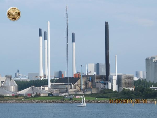 Трубы в порту Копенгаген
