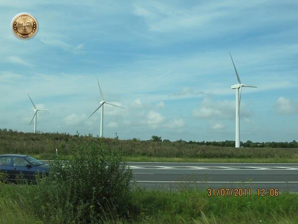 Ветряная электростанция в пригороде Копенгагена
