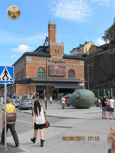 Яблоко на улице Стокгольма